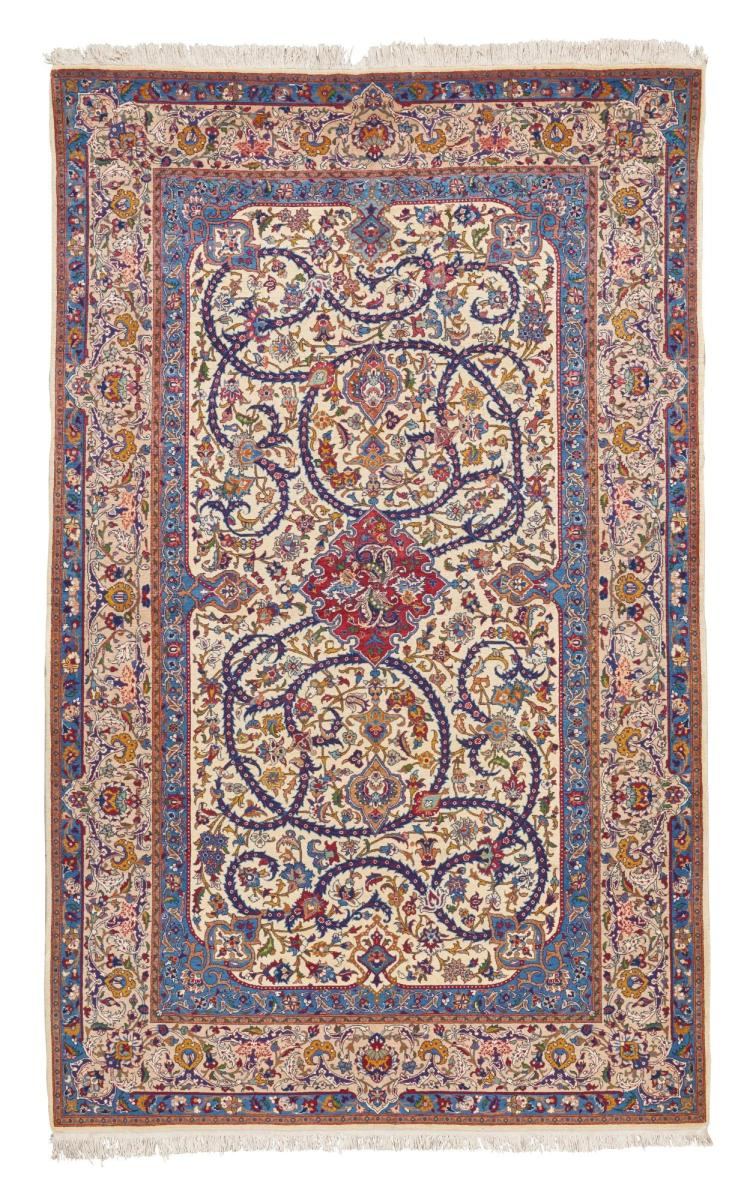 AN ISPHAHAN RUG, CENTRAL PERSIA |