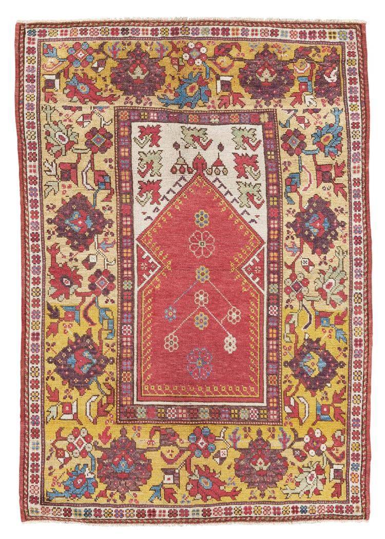 A MELAS PRAYER RUG, SOUTHWEST ANATOLIA |