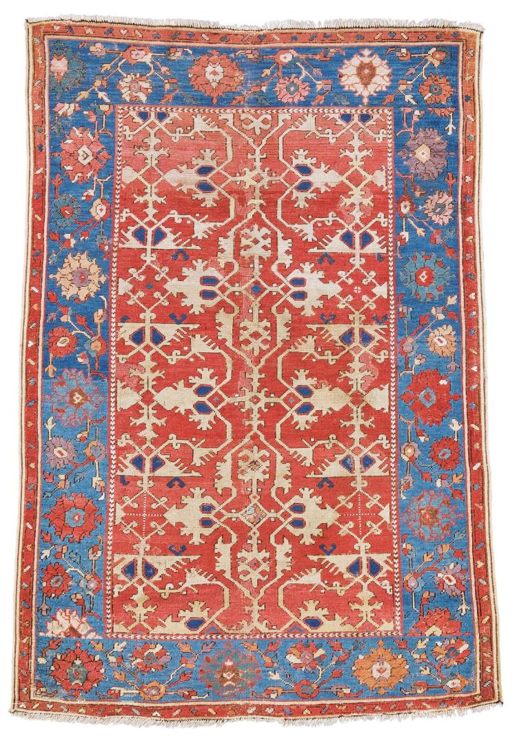 AN OUSHAK 'LOTTO' RUG, WEST ANATOLIA |