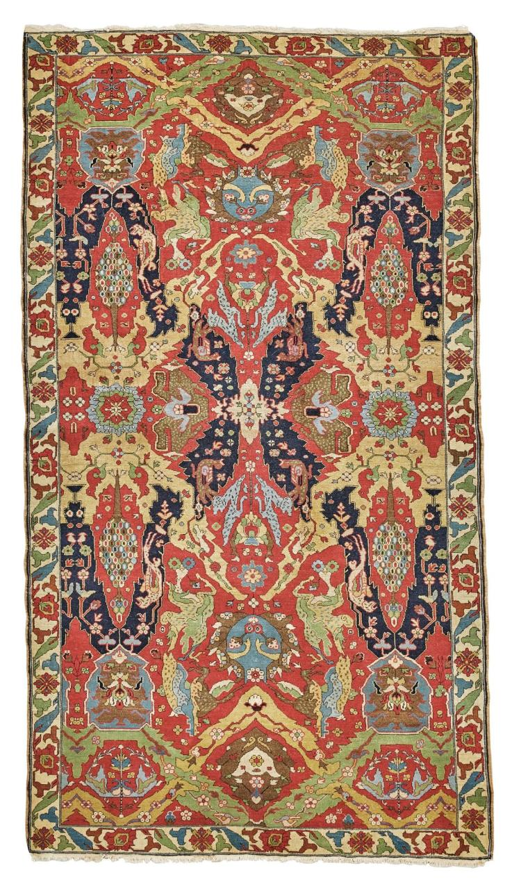 A 'DRAGON' STYLE CARPET, PROBABLY THEODORE TUDUC, ROMANIA |