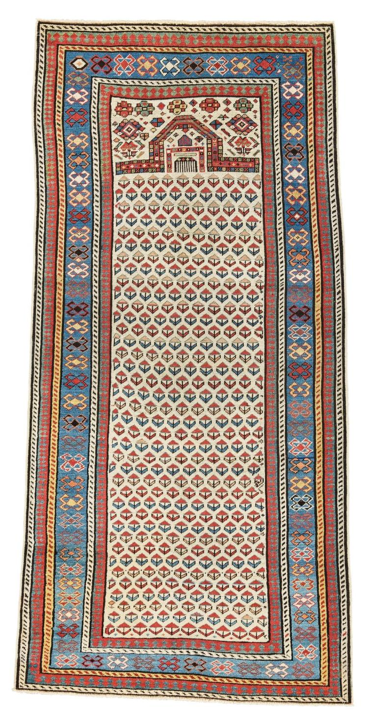 AN AKSTAFA PRAYER RUG, EAST CAUCASUS |