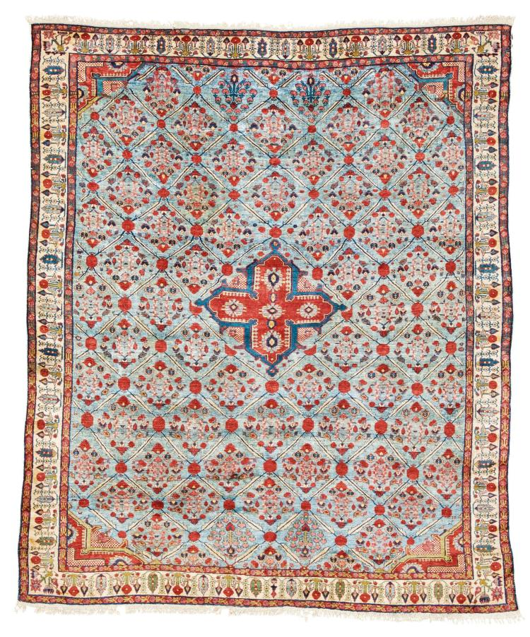 A WEST PERSIAN SILK RUG, POSSIBLY JOSHUGAN |