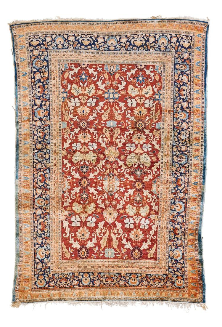 A BRUSSA SILK RUG, WEST ANATOLIA |