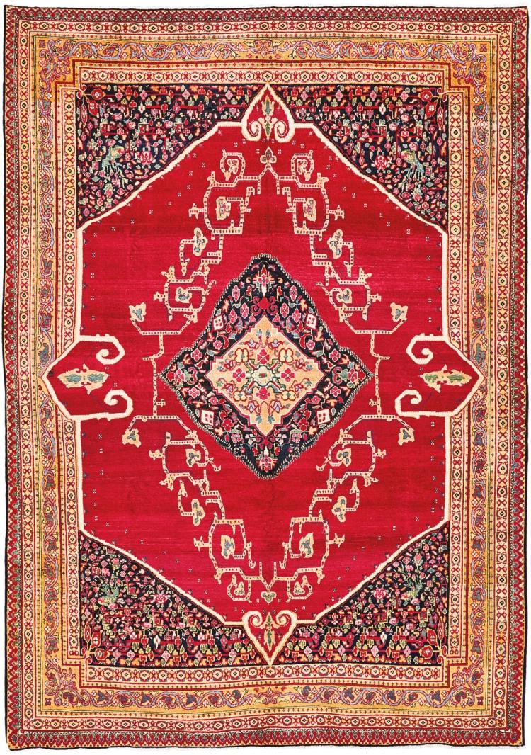 A FINE TABRIZ CARPET, NORTHWEST PERSIA |