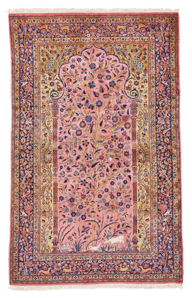 A KASHAN DABIR MEDITATION RUG, CENTRAL PERSIA |