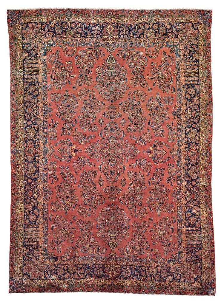 A MANCHESTER KASHAN CARPET, CENTRAL PERSIA |