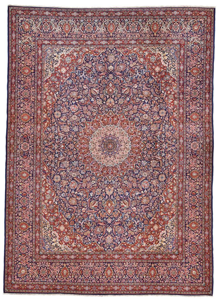 A KASHAN DABIR CARPET, CENTRAL PERSIA |