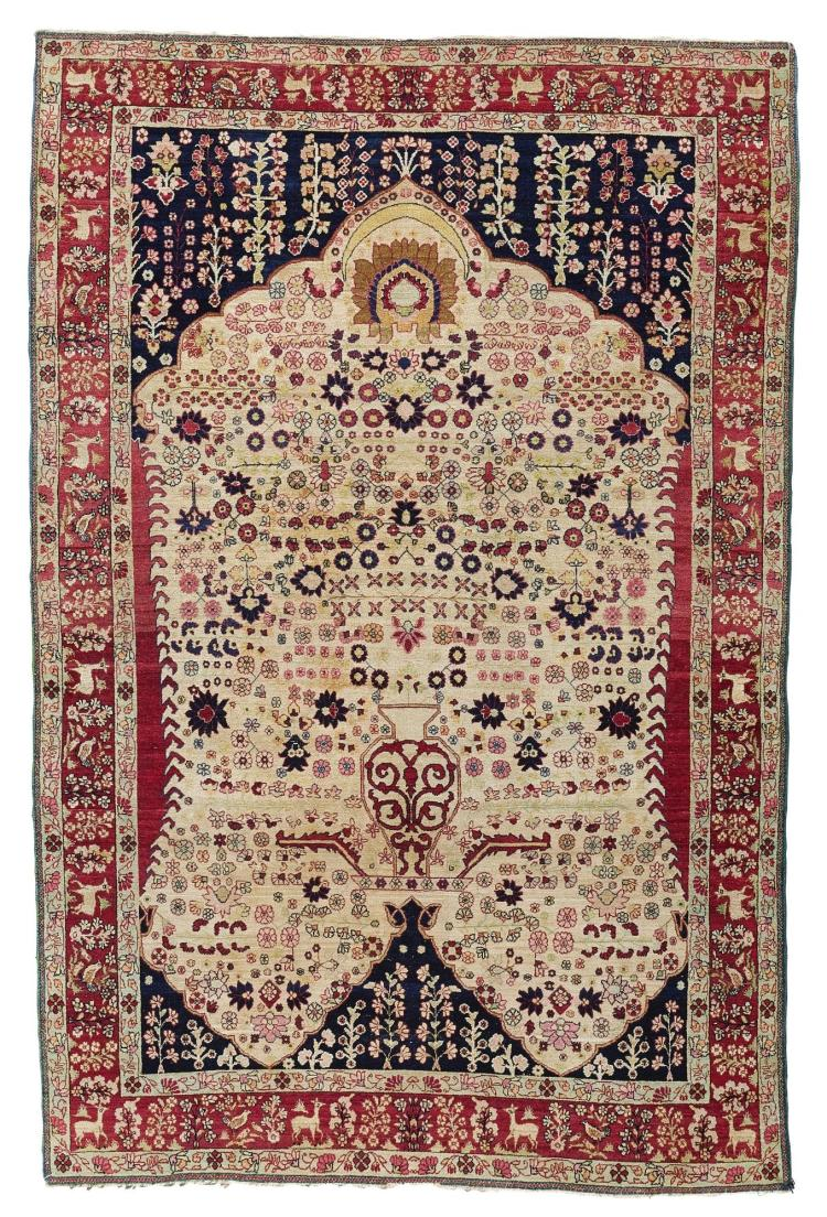 A KIRMAN 'MILLEFLEURS' PRAYER RUG, SOUTHEAST PERSIA |