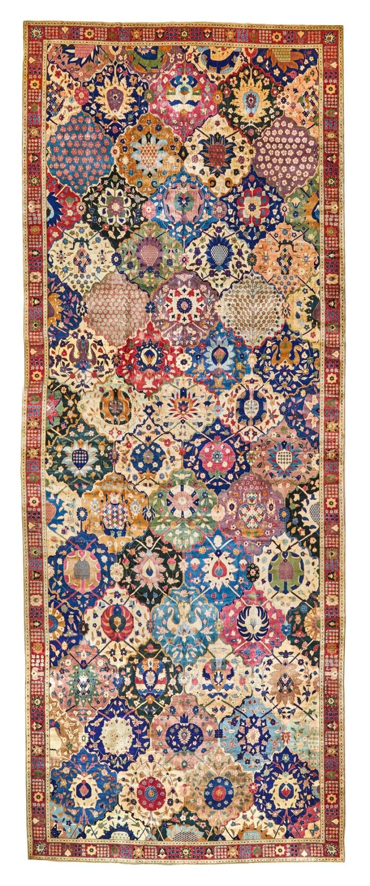 A LAHORE GARDEN GALLERY CARPET, NORTH INDIA |