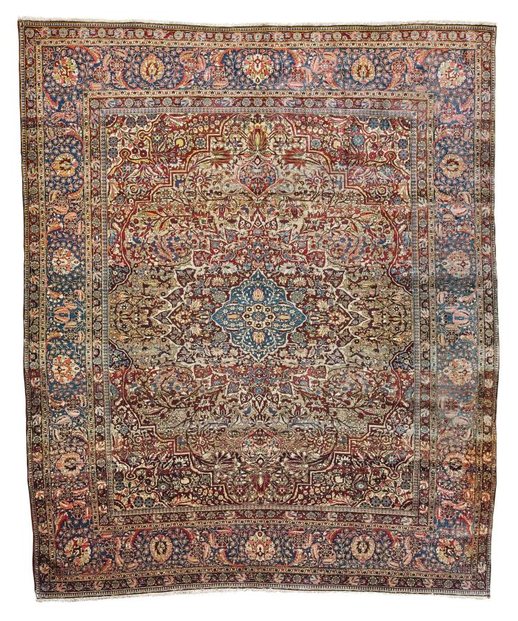 A KASHAN 'MOHTASHAM' SILK CARPET, CENTRAL PERSIA |