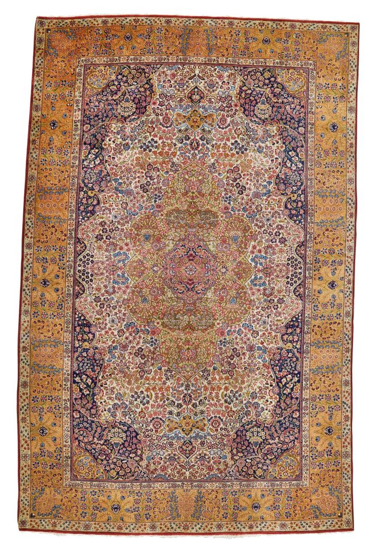 A KIRMAN CARPET, SOUTHEAST PERSIA |