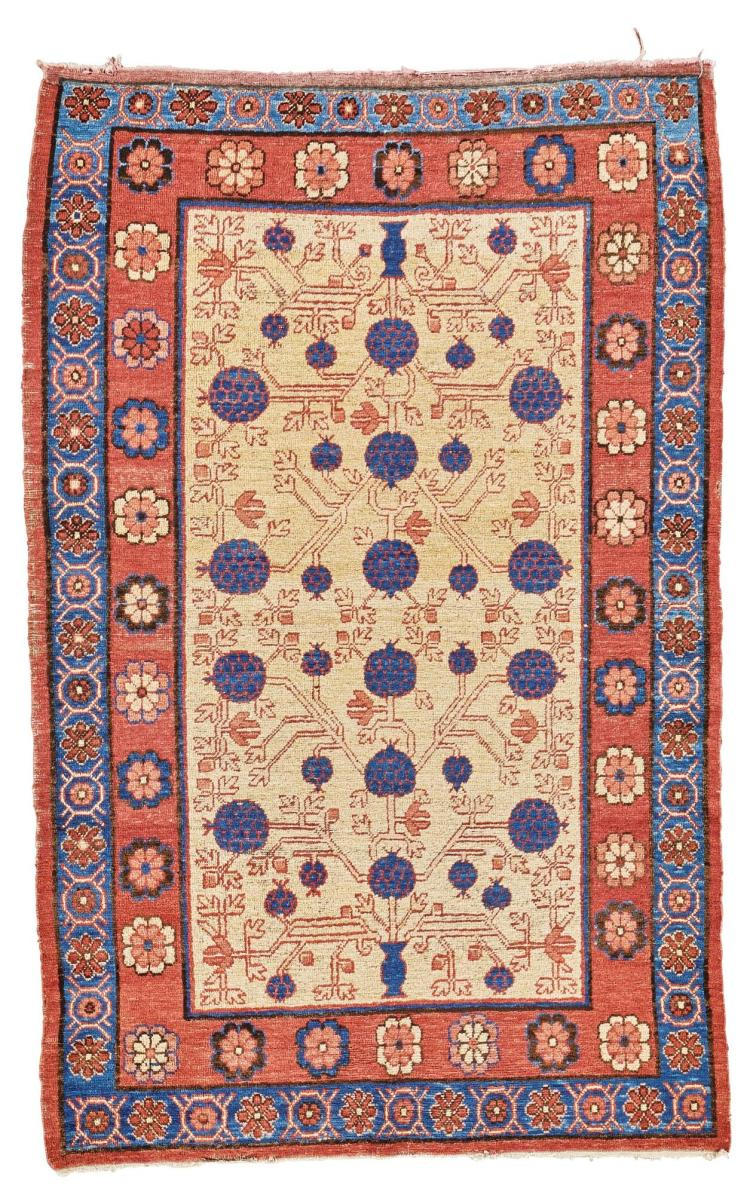 A KHOTAN RUG, EAST TURKESTAN |
