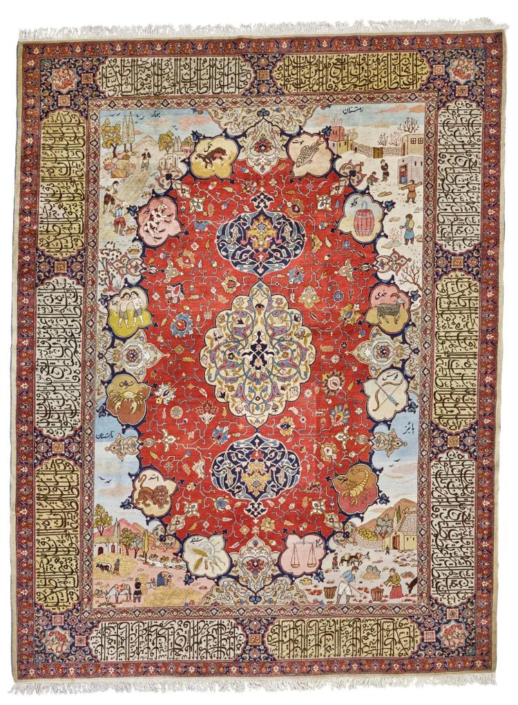 A TABRIZ CARPET, NORTHWEST PERSIA |