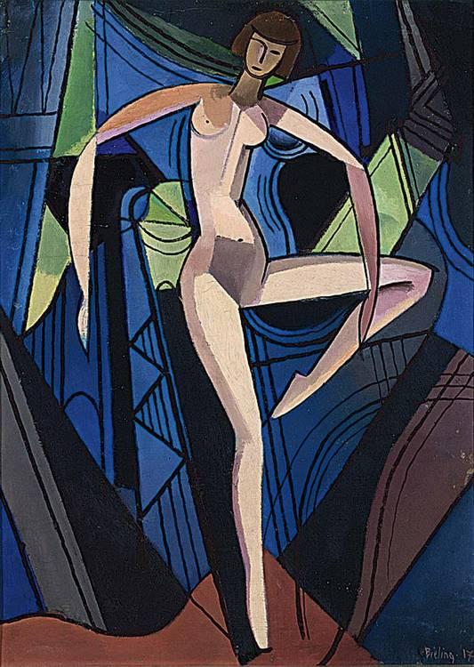 HERMAN BIELING DUTCH 1887-1964 A FEMALE NUDE