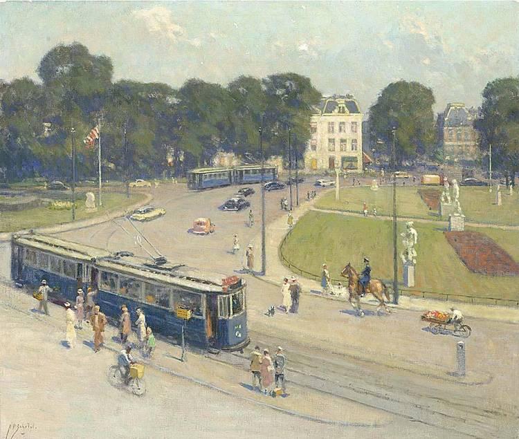 ANTHONIE PIETER SCHOTEL DUTCH 1840-1958 A VIEW OF THE FREDERIKSPLEIN, AMSTERDAM