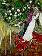 Marc Chagall   1887-1985 les trois cierges, Marc Chagall, Click for value