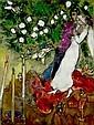 Marc Chagall  1887-1985 les trois cierges, Marc Chagall, Click for value