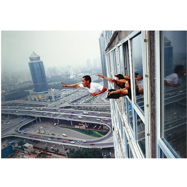 Li Wei (b. 1970) , Freedegree over 29th story, Soho, Beijing, 2003