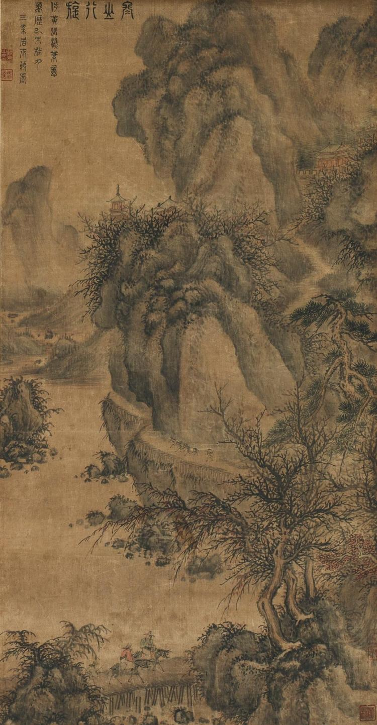 JIANG SONG (16TH CENTURY) | TRAVELLERS IN WINTER MOUNTAINS