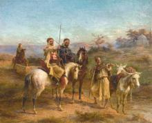 PAUL PHILIPPOTEAUX   Cavaliers dans le desert