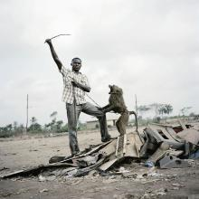 PIETER HUGO | Alhaji Hassan with Ajasco, Ogere-Remo, Nigeria, The Hyena and Other Menseries II, 2007
