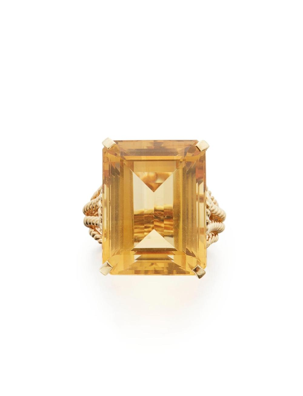 CITRINE RING, CARTIER