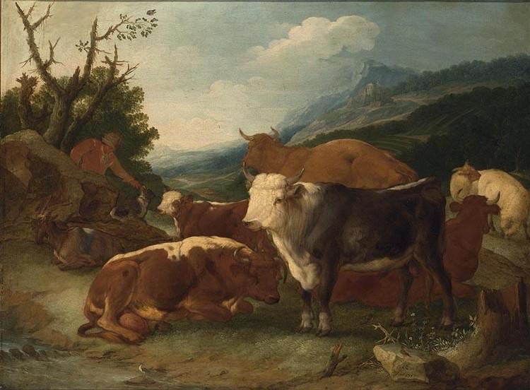 JOHANN MELCHIOR ROOS HEIDELBURG 1663 - 1731 BRUNSWICK(?)