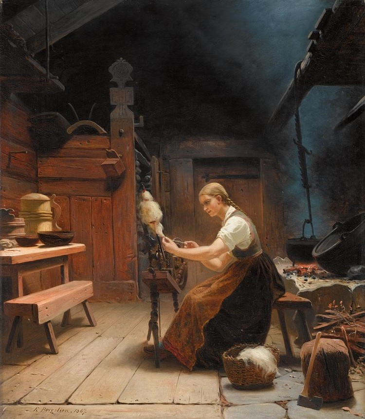 f - KNUD BERGSLIEN NORWEGIAN, 1827-1908