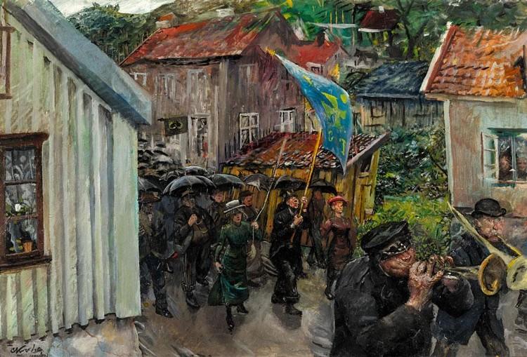 f - CHRISTIAN KROHG NORWEGIAN, 1852-1925