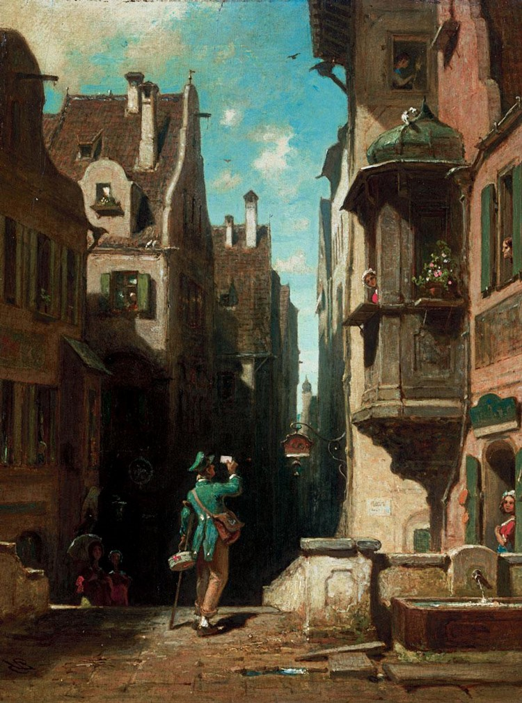 f - CARL SPITZWEG GERMAN, 1808-1885