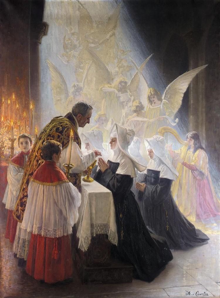 ANGELO VON COURTEN ITALIAN, 1848-1925