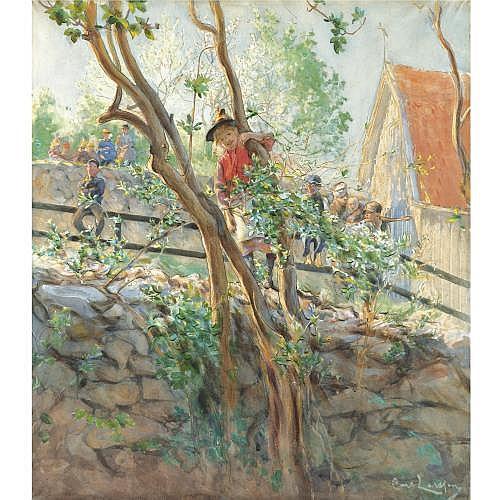 Carl Larsson Swedish 1853-1919 , Parterre