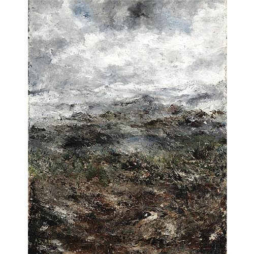 August Strindberg Swedish 1849-1912 , Alplandskap I (Alpine Landscape I)