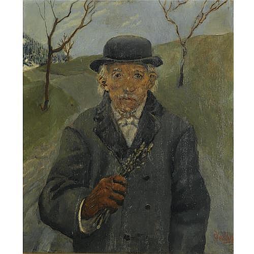 f - Christian Krohg Norwegian 1852-1925 , onkel joachim (uncle joachim)