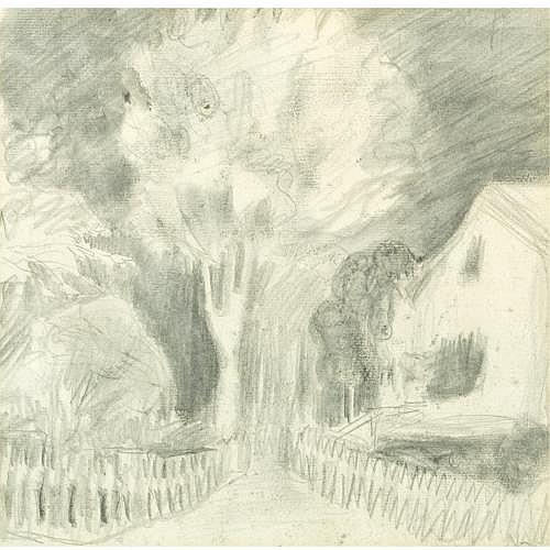 f - Nikolai Astrup Norwegian 1880-1928 , stille landevei (a quiet country lane)
