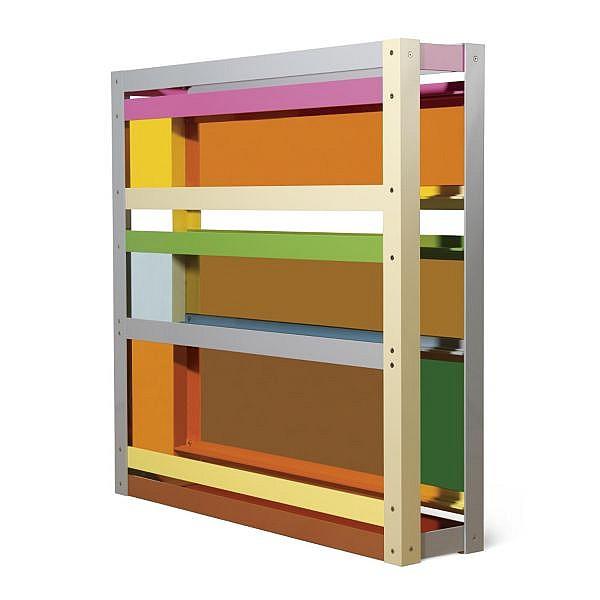- Liam Gillick , b. 1964   Resisted Production   painted aluminium and transparent Plexiglas