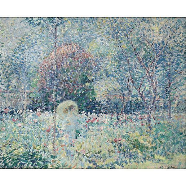 Karl Albert Buehr 1866 - 1952 , The Parasol oil on canvas