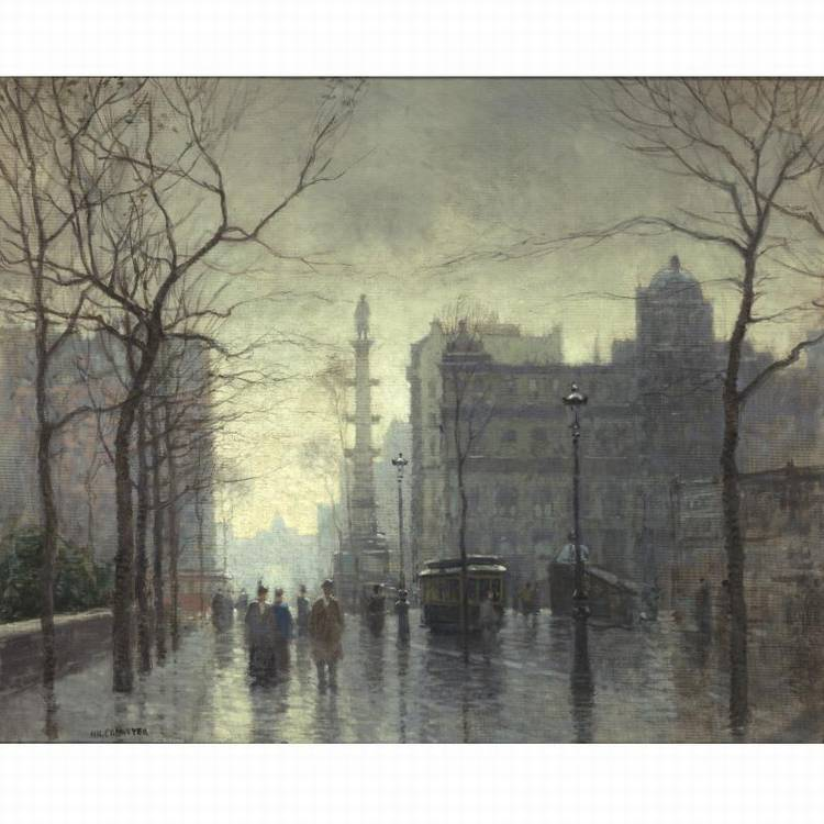 PROPERTY FROM THE CIGNA MUSEUM AND ART COLLECTION PAUL CORNOYER 1864-1923 RAINY DAY, COLUMBUS