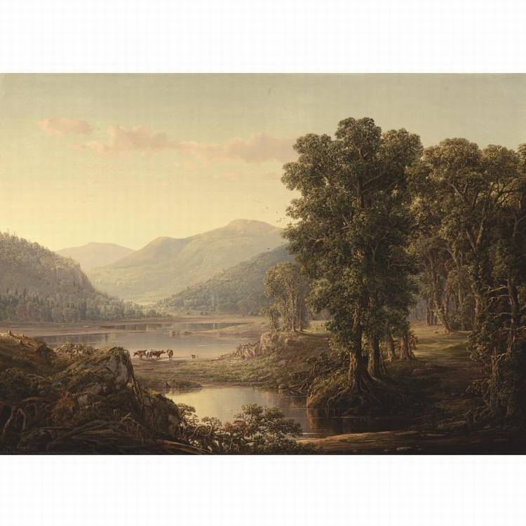 * WILLIAM LOUIS SONNTAG 1822-1900 OR 1916 EARLY AUTUMN MORNING, WESTERN VIRGINIA