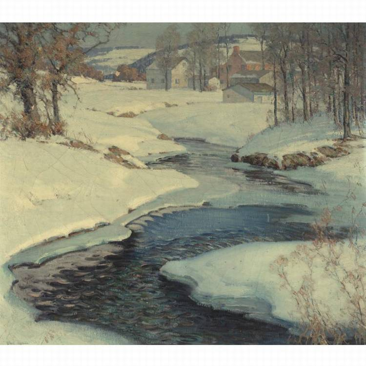 ARTHUR MELTZER B. 1893 THE MEANDERING CREEK