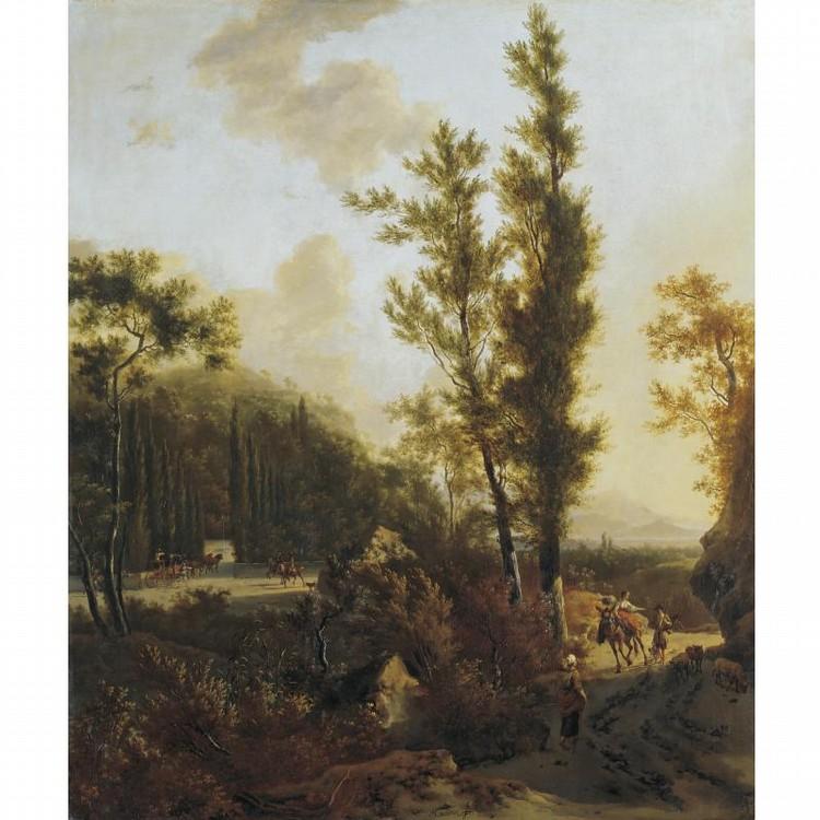 l,u - FREDERIK DE MOUCHERON EMDEN 1633 - 1686 AMSTERDAM AND ADRIAEN VAN DE VELDE AMSTERDAM 1636 - 1672