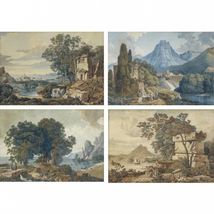 LOUIS-FRANÇOIS CASSAS AZAY-LE-FERON 1756 - 1827 VERSAILLES