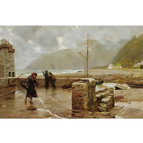 George Hillyard Swinstead R.B.A., R.I. , 1860-1926 Lynmouth oil on canvas
