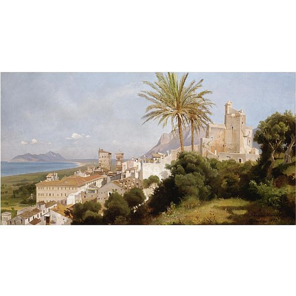 Edmund Kanoldt , German 1845-1904 terracina oil on canvas