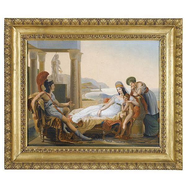 After Pierre Narcisse Guérin , French 1774-1833   Aeneas Recounting the Trojan War to Dido oil on canvas