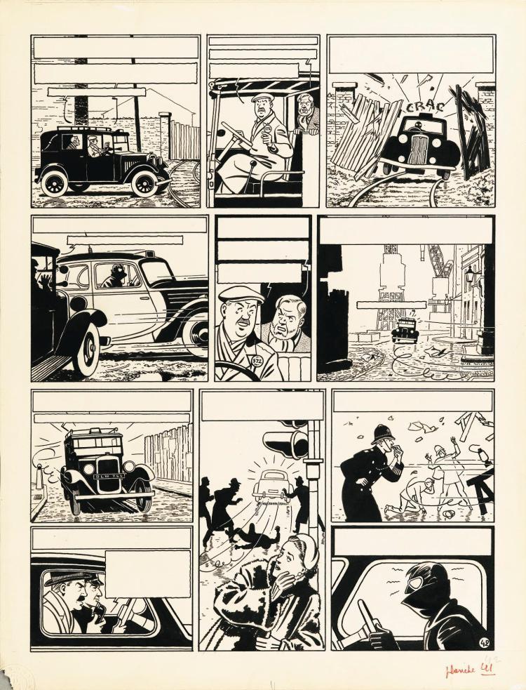 EDGAR P. JACOBS (1907-1983 BLAKE ET MORTIMER, LA MARQUE JAUNE | Edgar P. Jacobs (1907-1983