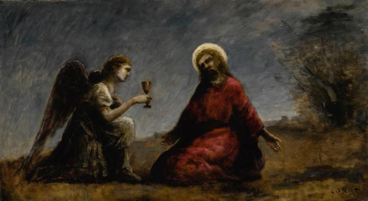 JEAN-BAPTISTE-CAMILLE COROT   Le Christ au Jardin des Oliviers