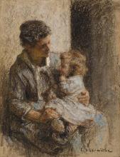 LÉON-AUGUSTIN LHERMITTE | Mère et enfant