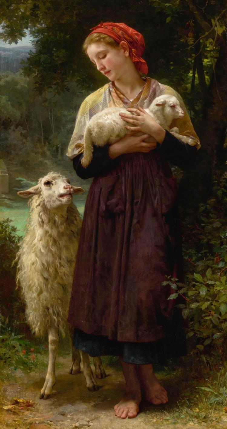 WILLIAM BOUGUEREAU | L'agneau nouveau-né (The Newborn Lamb)