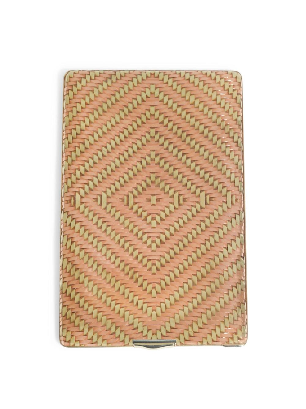 A TWO-COLOUR GOLD WOVEN CIGARETTE CASE, CARTIER NEW YORK, CIRCA 1940 |